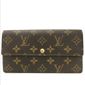 Louis Vuitton Monogram Sarah Long Wallet